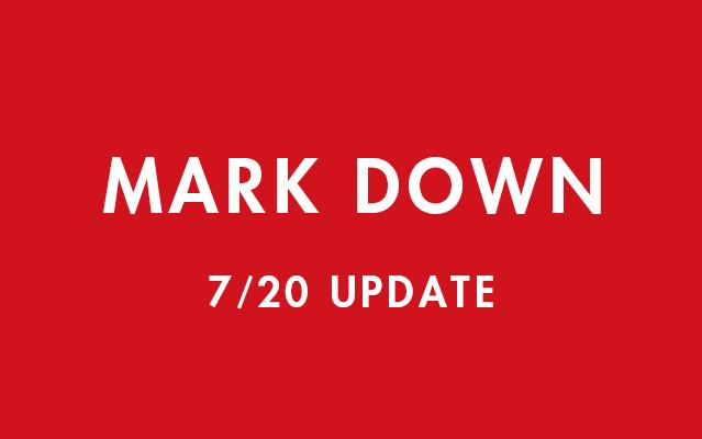 一部商品MARK DOWN!