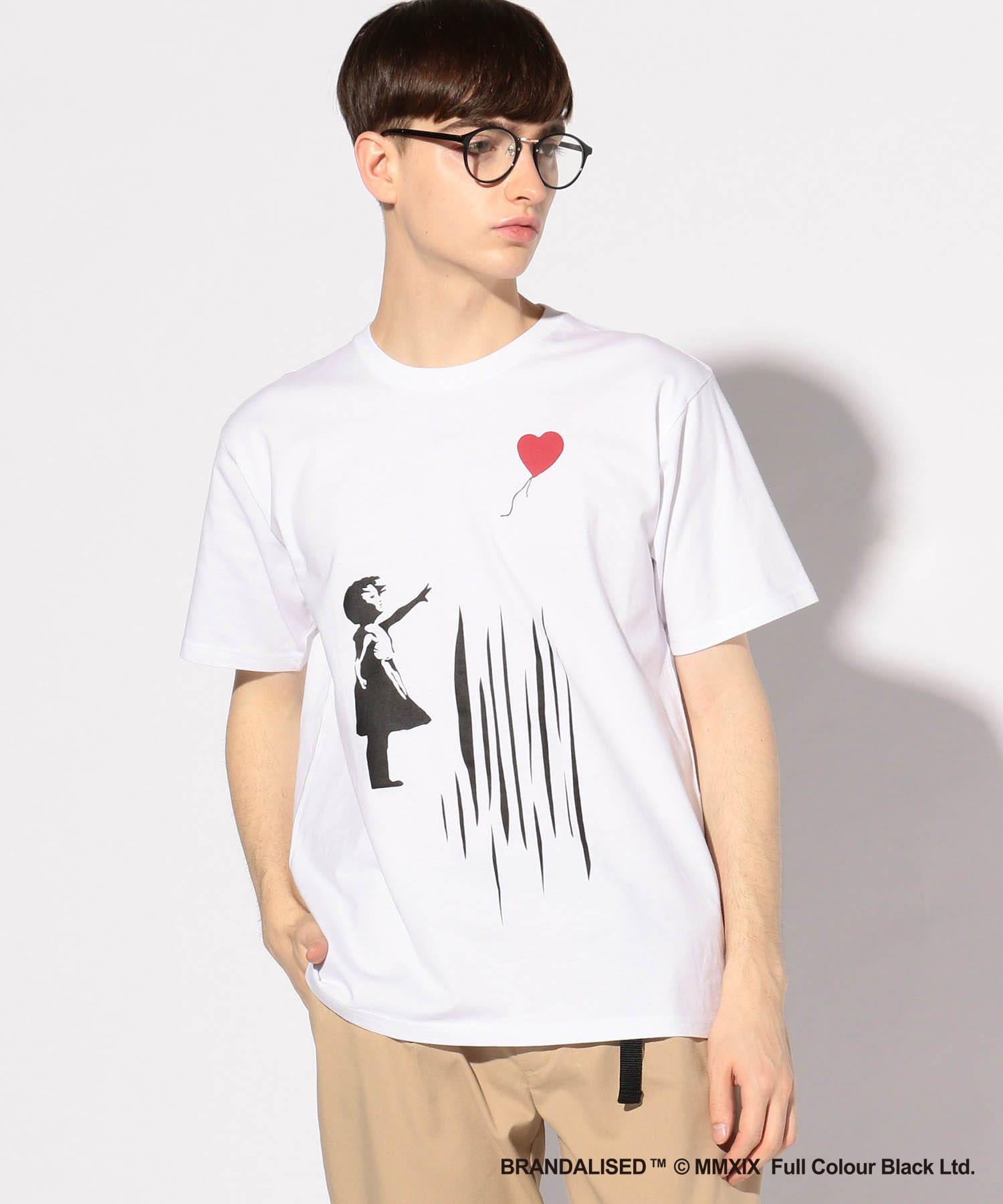 プリントTシャツ『バンクシー(or Banksy)&Balloon Girl+design』