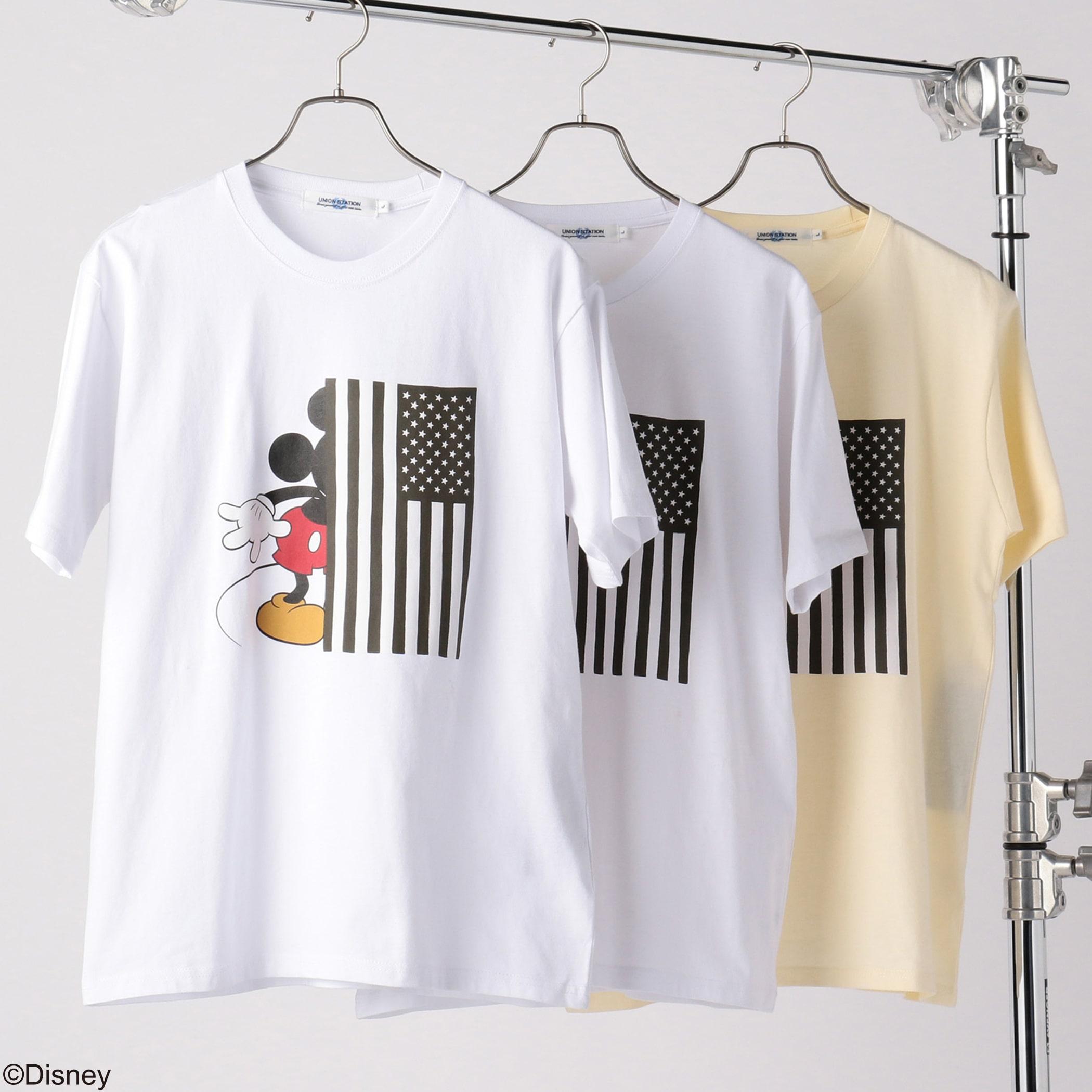 Disney(ディズニー)星条旗プリントTシャツ<ストライプ>