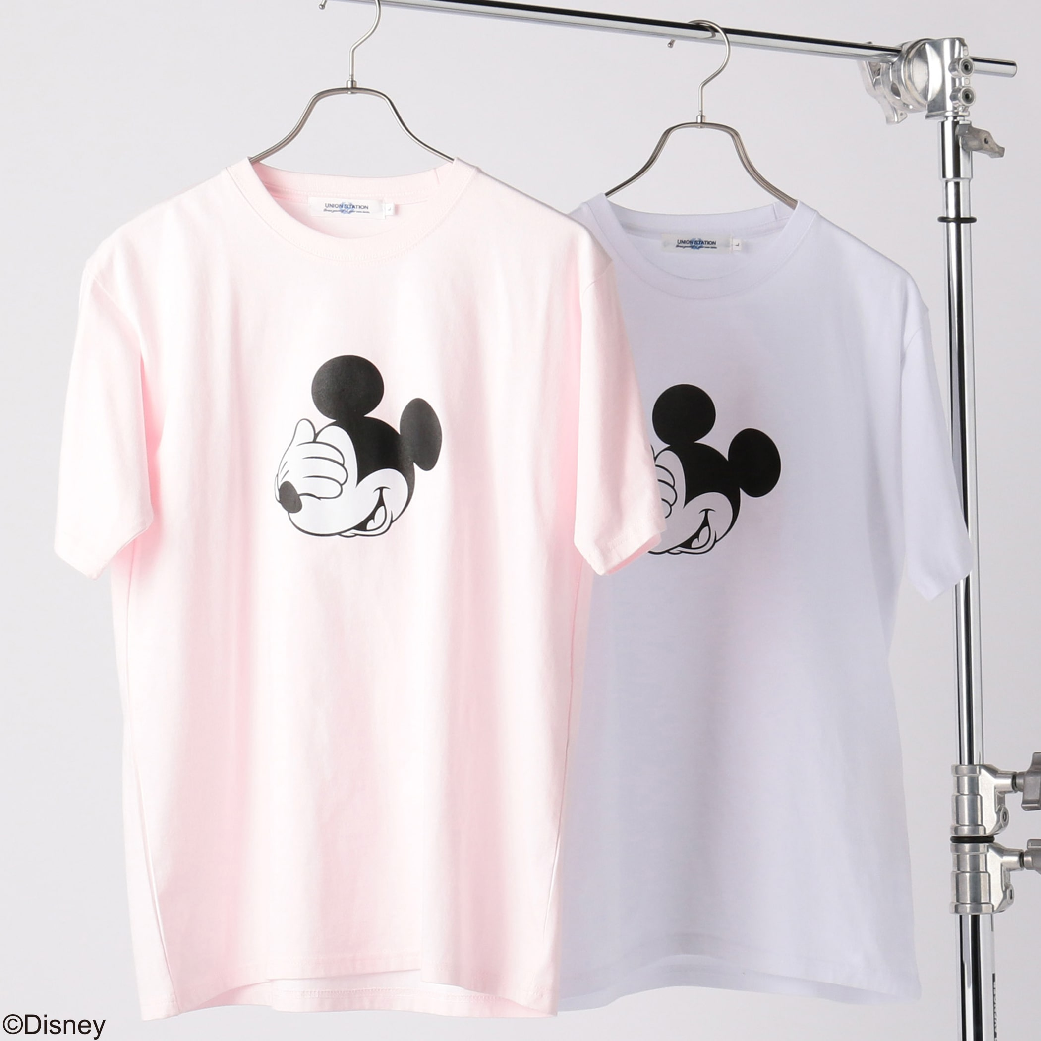 Disney(ディズニー)ミッキーマウスプリントTシャツ<フェイス>
