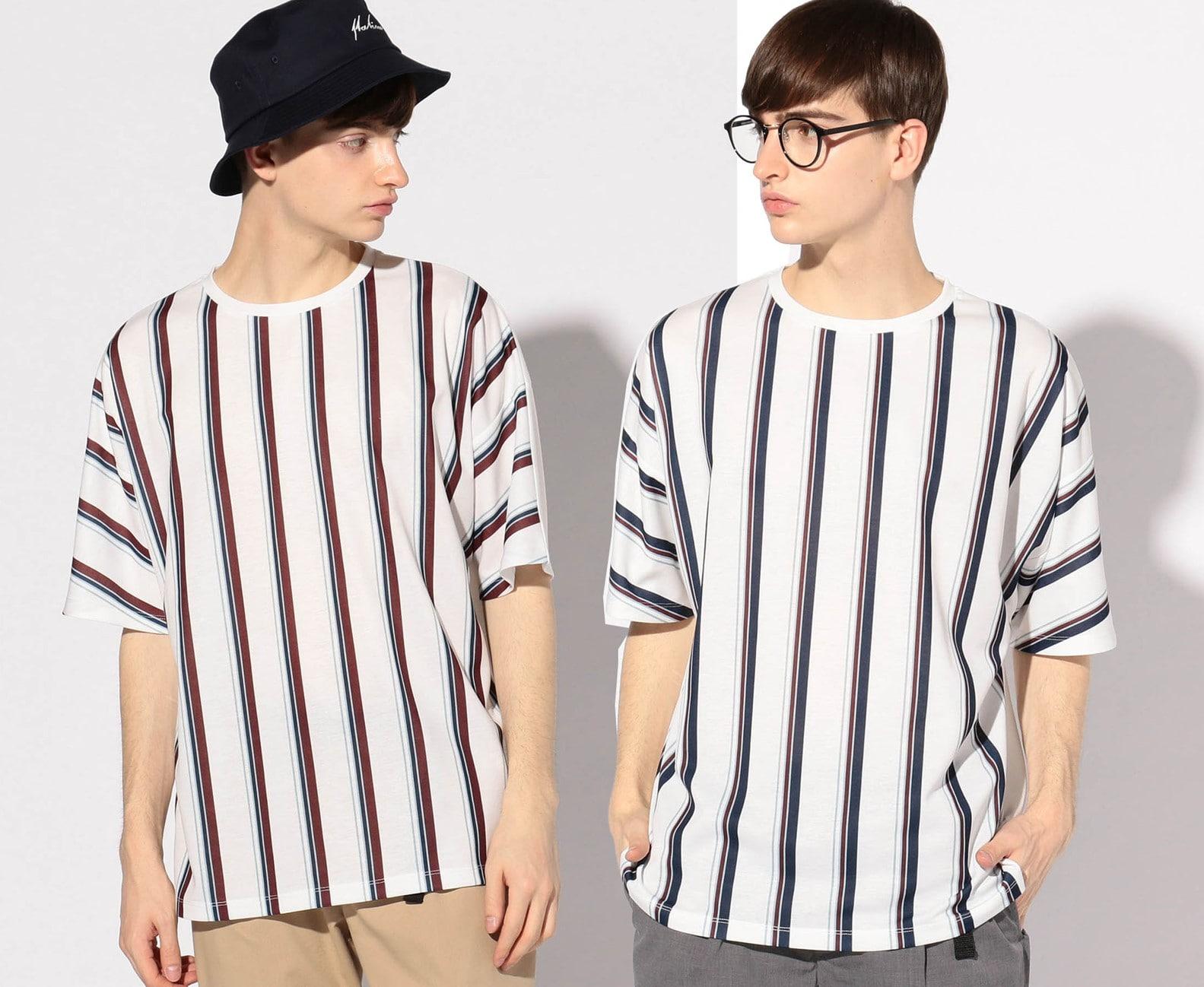ライトポンチストライプビッグTシャツ