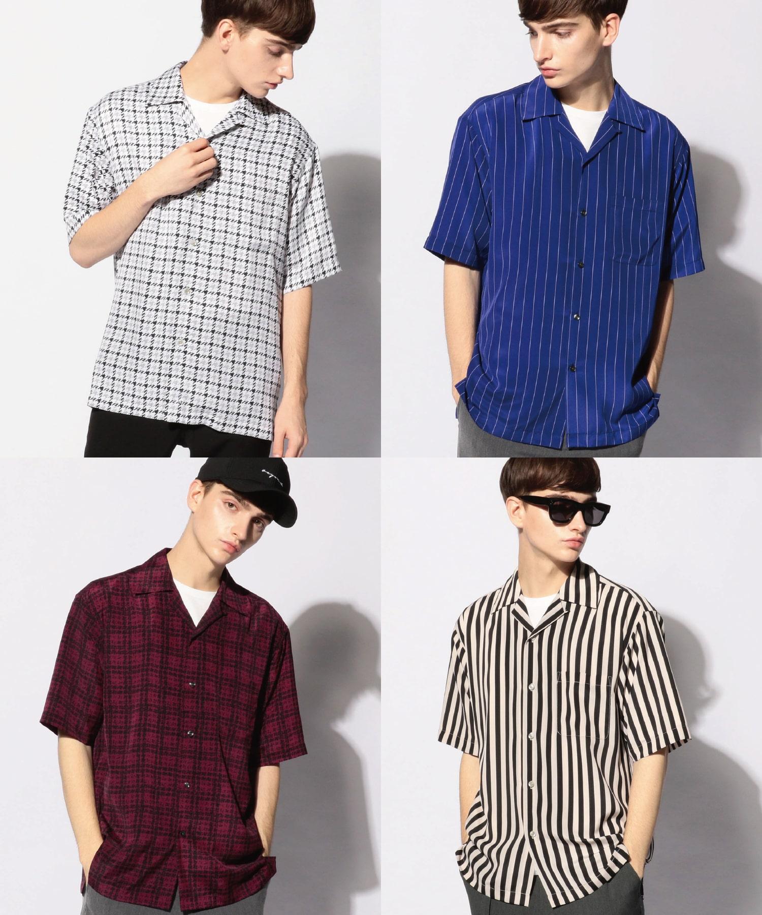 総柄オープンカラーシャツ [JAPAN FABRIC]