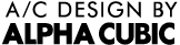 A/C DESIGN BY ALPHA CUBIC ロゴ