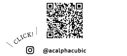 QRコード @acalphacubic