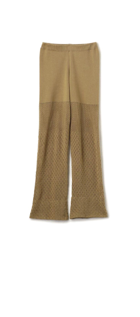 Openwork Mix Knit Pants