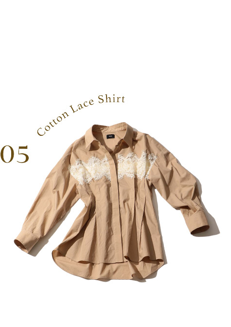 Cotton Lace Shirt