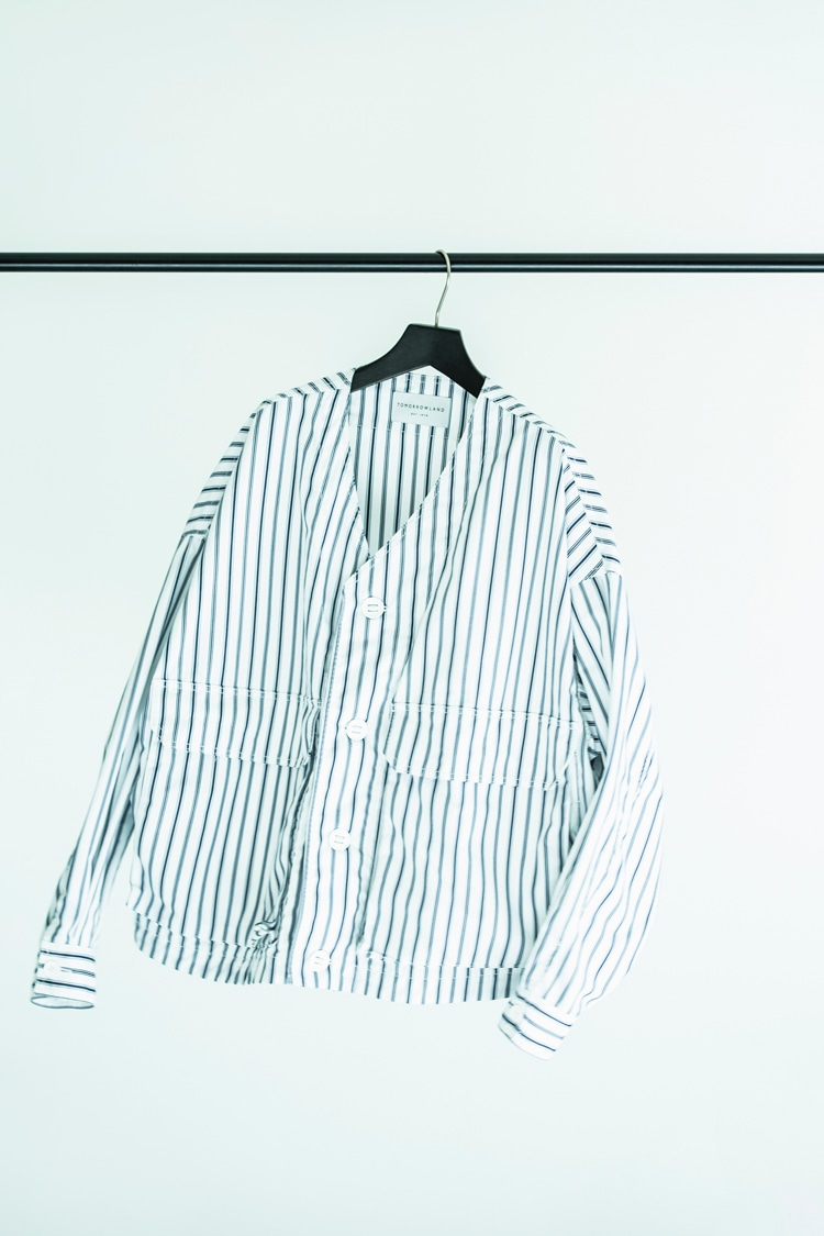 Cotton linen check cock jacket