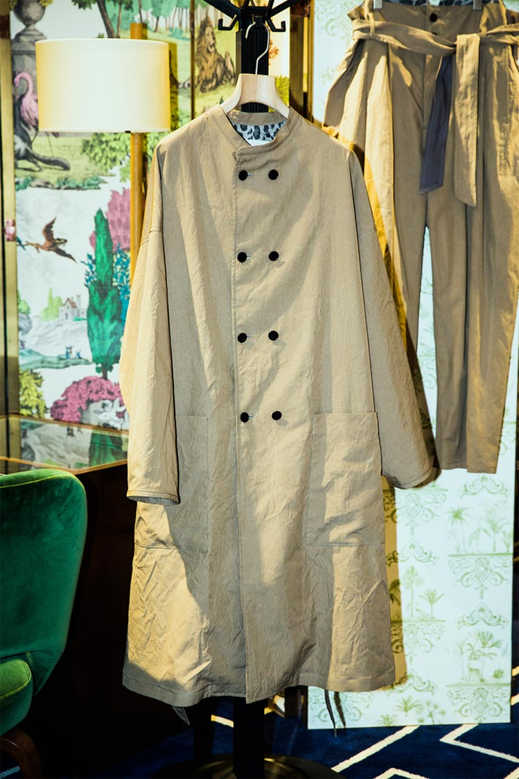 COTTON SILK WASHER COAT & PANTS